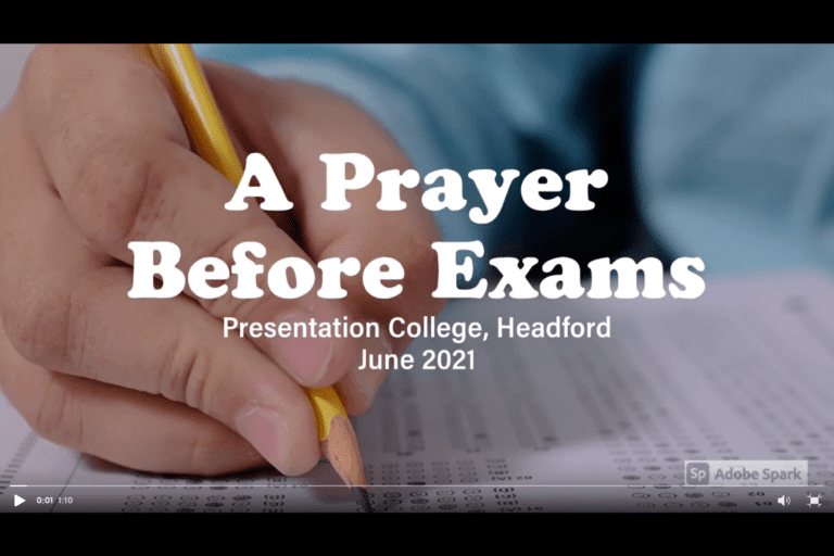 A PRAYER FOR EXAM STUDENTS